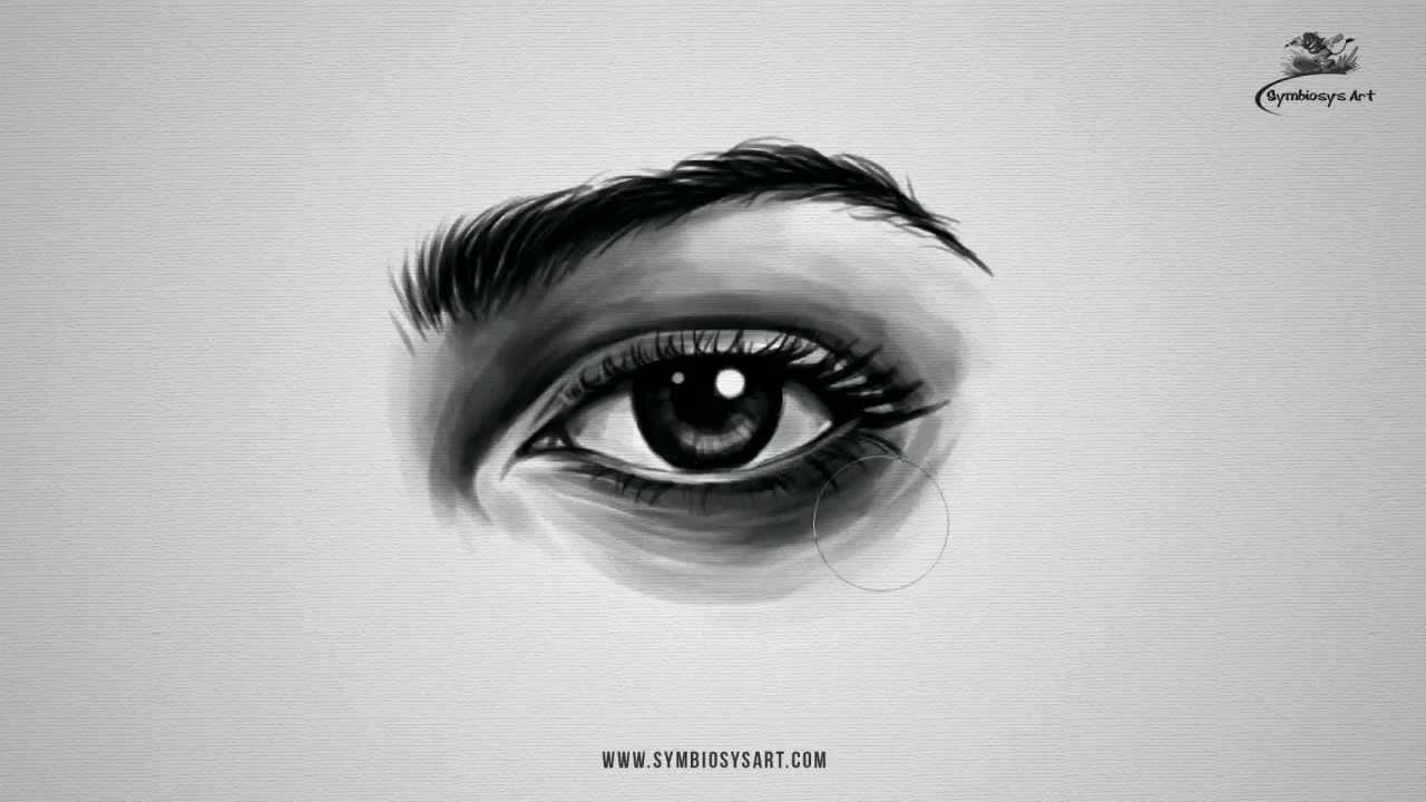 how to draw realistic female eye youtube