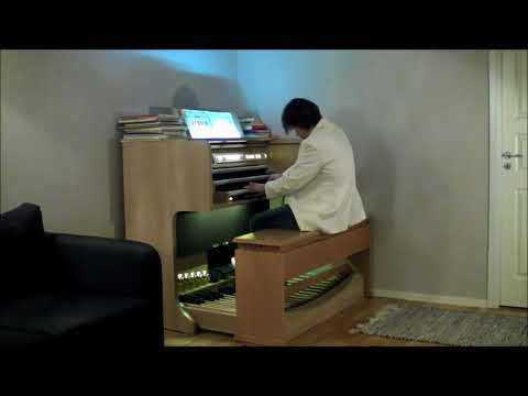 Swedish Organist Jonas Karlsson  Tango Militante, Opus 22 Video