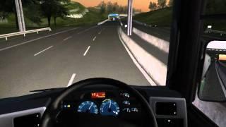 UK Trcuk Simulator 2011 | MAN | Night Driving