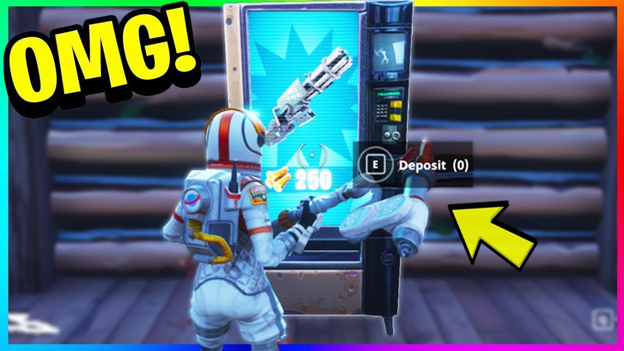 TRADE RESOURCES FOR ITEMS NEW Vending Machine GAMEPLAY In FORTNITE
