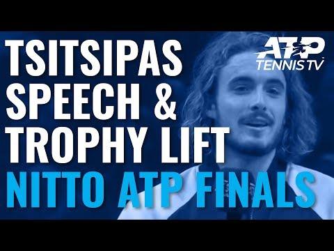 Tsitsipas's speech and Trophy presentation - ATP finals 2019