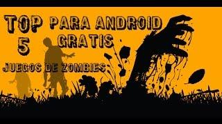  Top 5 juegos de zombies  (Para android)  Que pesan Menos de 100 MB.