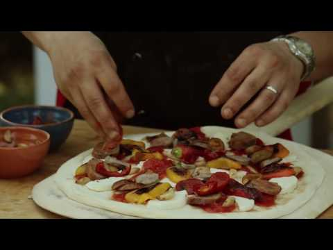 How to Make a Sausage & Pepper Pizza in a Wood Fired Brick Oven