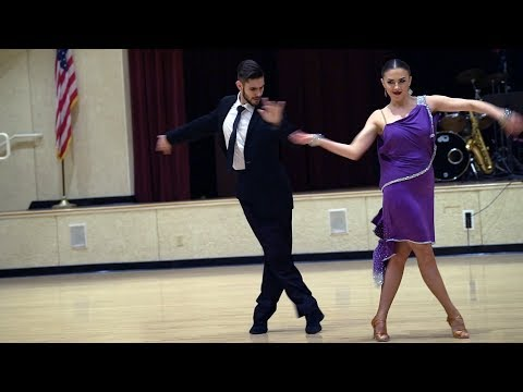 Cha Cha and Tango dance exhibition at Laguna Woods Village, St Patrick's Day, 2018