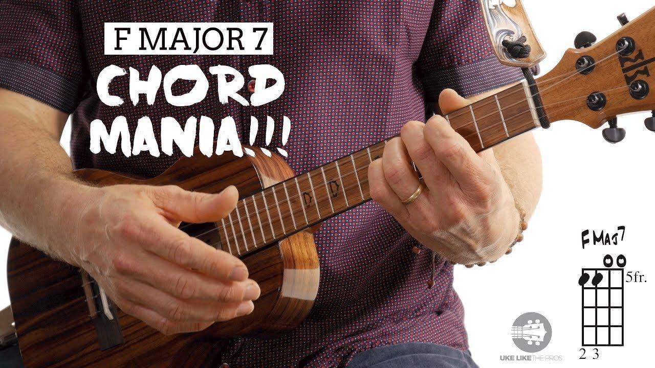Easy Ukulele Chords   F Major 7 Chord Mania   4K