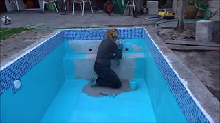 How to paint a swimming pool - Nicole builds our plunge - Episode 8