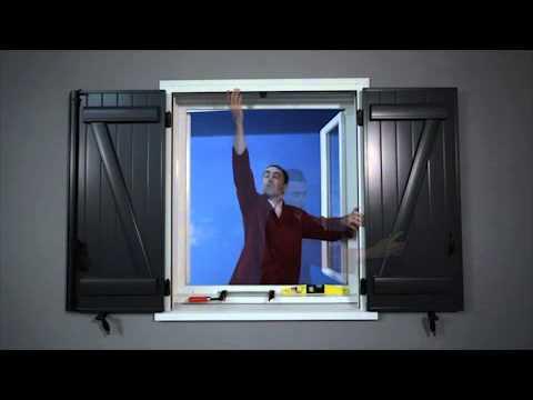 aide la pose de pr cadre pour volets battants youtube. Black Bedroom Furniture Sets. Home Design Ideas