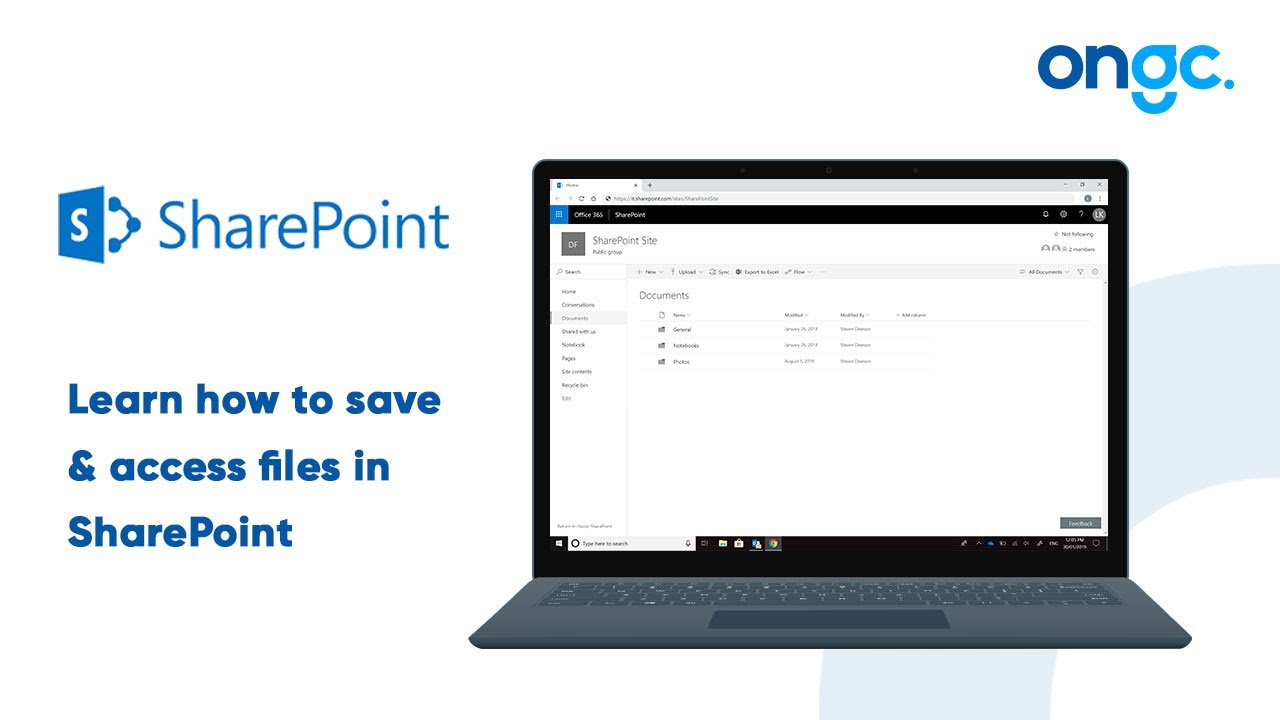 Saving and Accessing Files in SharePoint