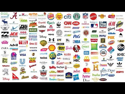 Top 1000 Global BEST Brands LOGO - Best Global Companies 1000 LOGO Ranking A-Z | 4K