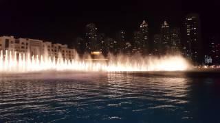 Burj khalifa Musical Fountain 4K video, Galaxy s6 Edge