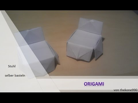 origami m bel in nur 1min zum stuhl youtube. Black Bedroom Furniture Sets. Home Design Ideas
