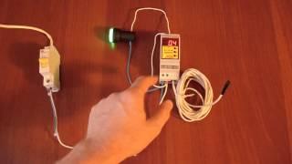 RT-12-16 - как подключить и настроить(Терморегулятор RT-12-16 - как подключить и настроить. Показана работа терморегулятора. Вместо нагревателя..., 2013-10-22T15:25:46.000Z)