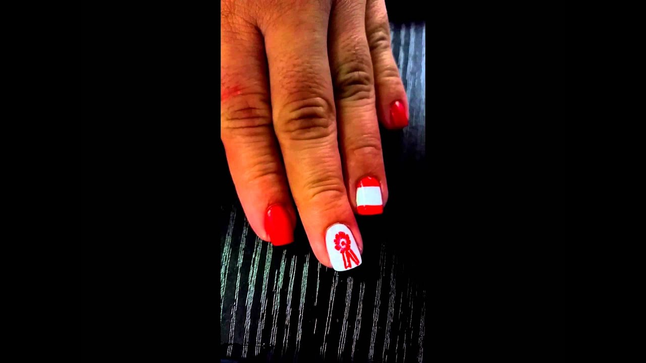Diseño de uñas PARA LA HINCHADA PERUANA - VIVA EL PERU!!!! - YouTube