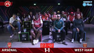 AFTV Nketiah Goal Reaction | Arsenal  2-1 West Ham