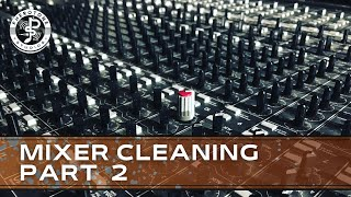 How to service a mixing desk part 2 - How to take apart a mixing desk and clean the chassis