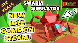 Swarm Simulator Evolution: NEW IDLE GAME ON STEAM - Gameplay Walkthrough #1 - (GPV PLAYS)