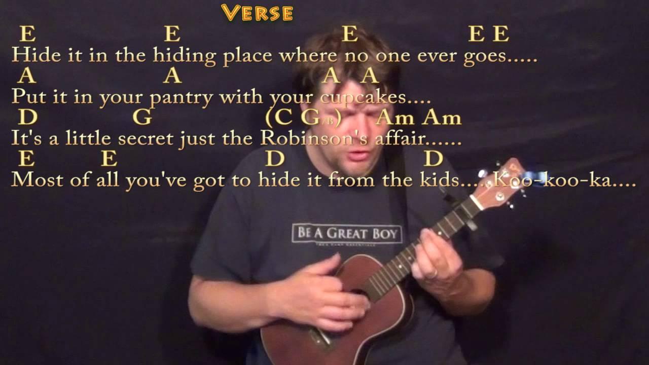Mrs robinson simon and garfunkel ukulele cover lesson with mrs robinson simon and garfunkel ukulele cover lesson with chordslyrics capo 2nd hexwebz Images