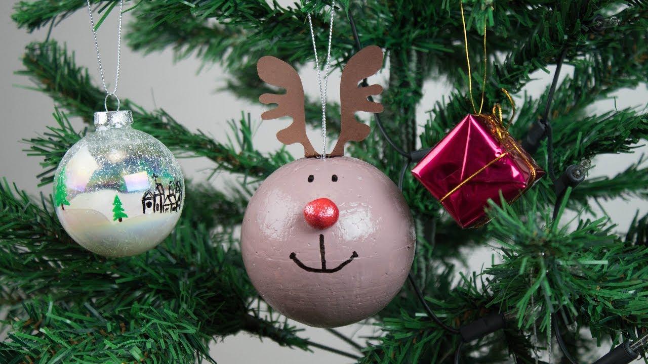 Como Decorar Bolas De Navidad De Poliespan.Bolas De Navidad Manualidades Para Ninos