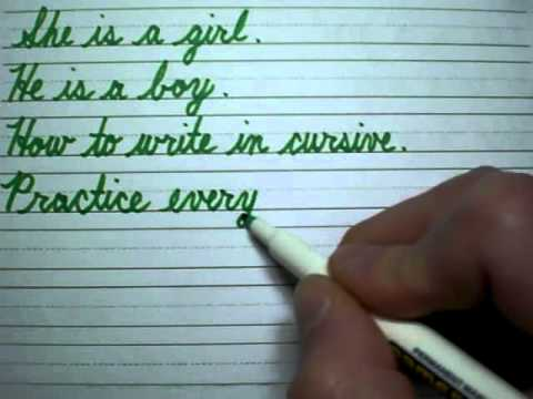 How to write in cursive 3/3