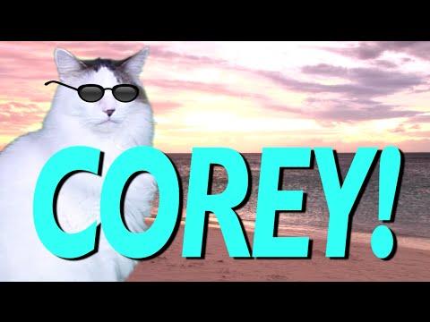 HAPPY BIRTHDAY COREY EPIC CAT Happy Birthday Song YouTube