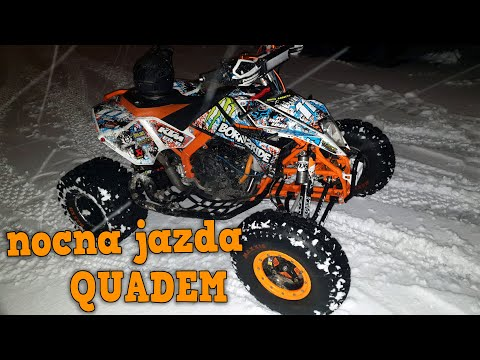 Nocna jazda Quadem po Śniegu | KTM505sx SWAP ER-6n