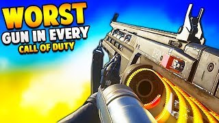 The WORST GUN in Every Call of Duty