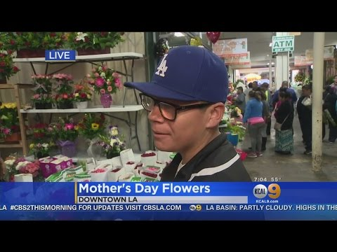 Flower Buyers Converge On California Flower Mall For Mother's Day Arrangements