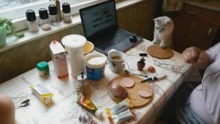 Завтракаем с котом Афанасием