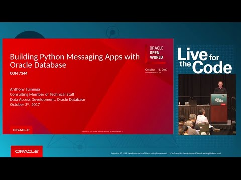 Building Python Messaging Apps with Oracle Database