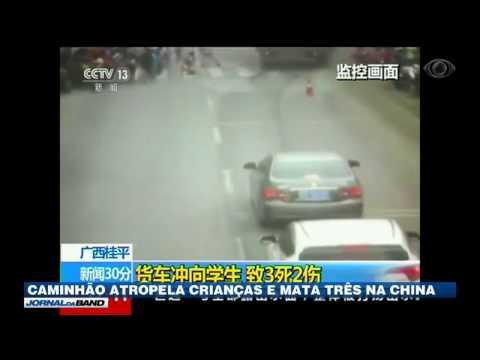 Caminhão atropela crianças e mata três na China