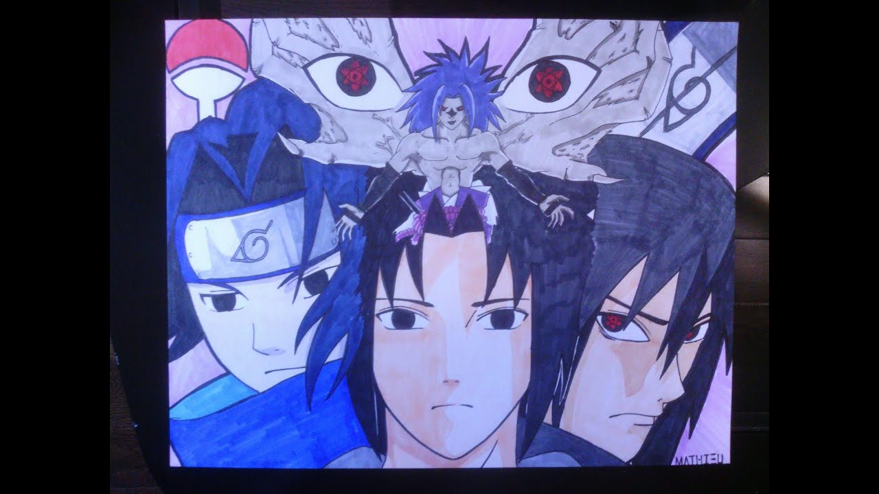 Naruto how to draw sasuke comment dessiner sasuke youtube - Comment dessiner sasuke ...