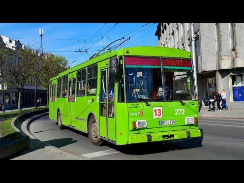 TROLLEYBUSES IN KAUNAS LITHUANIA MAY 2017 / troleibusai Kaune