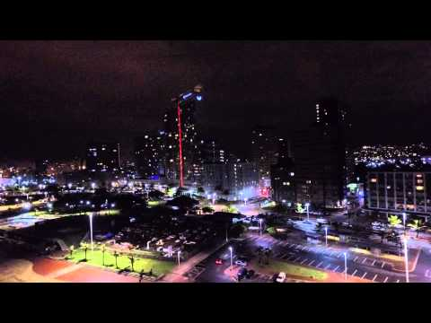 Durban beach front at night