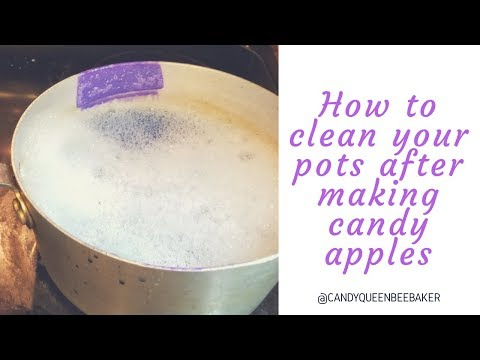 How to clean your pot after making candy apples
