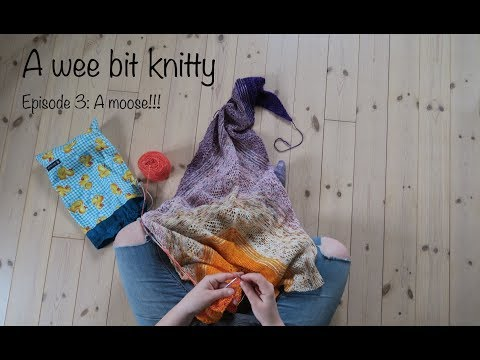 A wee bit knitty Ep. 3: A moose!!!