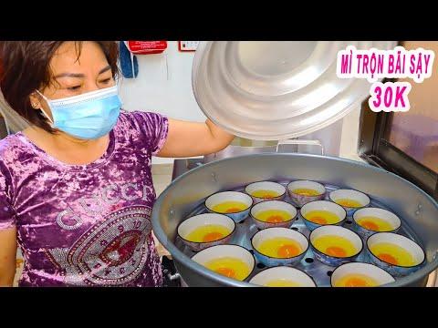 Mì Trộn Tóp Mỡ Trứng Lòng Đào 30K | Cách làm trứng lòng đào cực siêu
