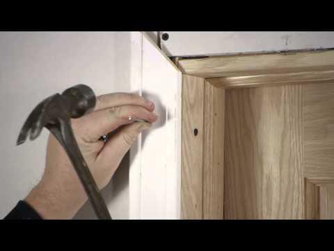 How to Install Interior Door Casing : Door Installation & Repairs
