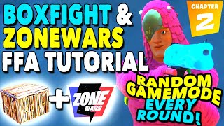 How To Make a BOXFIGHT and ZONEWARS FFA with RANDOM GAMEMODES! Creative Tutorial