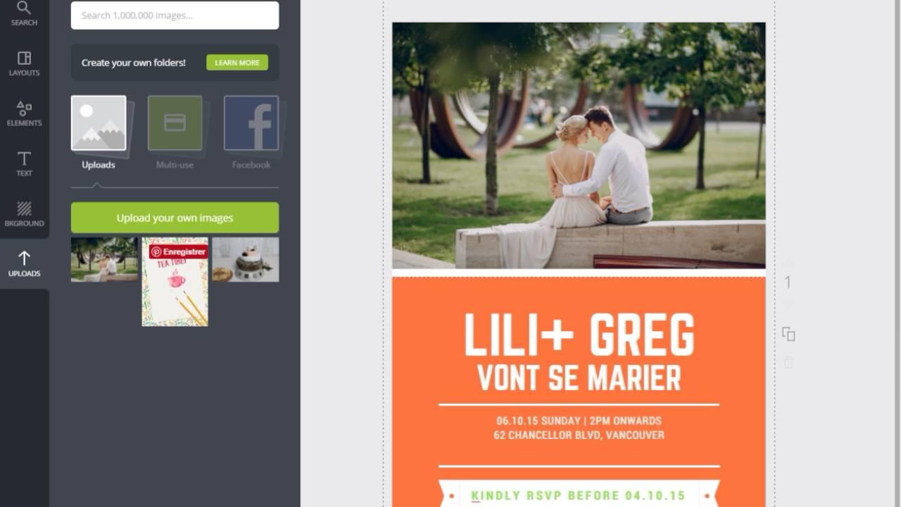 Creer Un Faire Part De Mariage Gratuit Avec Canva