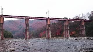 秩父鉄道 EL三重連パレオエキスプレス 荒川橋梁【警笛あり】