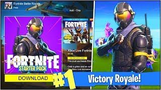 "HOW TO DOWNLOAD *NEW* ""ROGUE AGENT"" SKIN in Fortnite Battle Royale! (Fortnite Starter Pack"