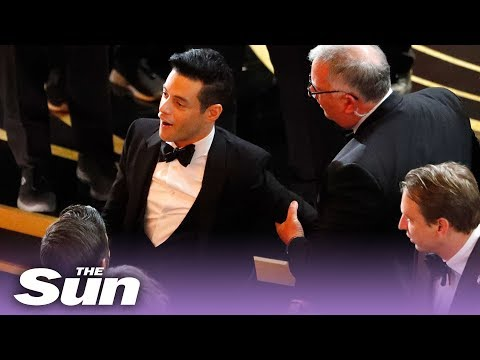 Big Mike - Rami Malek Falls off Stage at Oscars