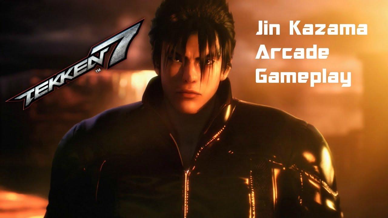 Tekken 7:Jin Kazama Arcade Gameplay