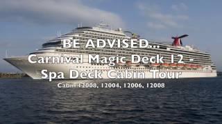 Carnival Magic - Spa Deck 12 - Watch Before You Book - Cabin Tour