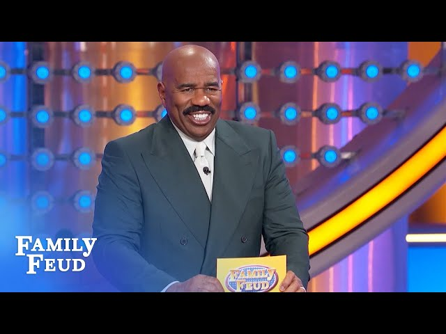 Steve Harvey loves this question! | Family Feud