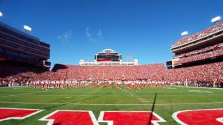Nebraska Cornhuskers National Anthem and Fly Over vs. Purdue
