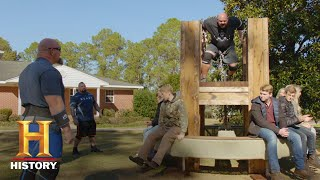 The Strongest Man in History: Carousel Lift Challenge | History