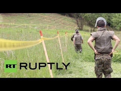 Bosnia and Herzegovina: Scouts search for war land mines near Sarajevo