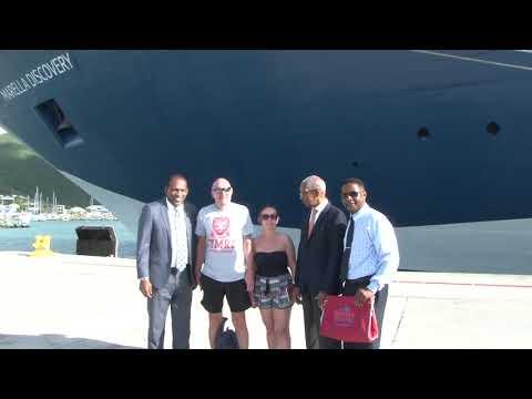 JTV NEWS UPDATE   FIRST CRUISE SHIP BERTHS AT TORTOLA AFTER HURRICANE IRMA