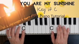 You Are My Sunshine -Kevin Devine (Key of C)//EASY Piano Tutorial